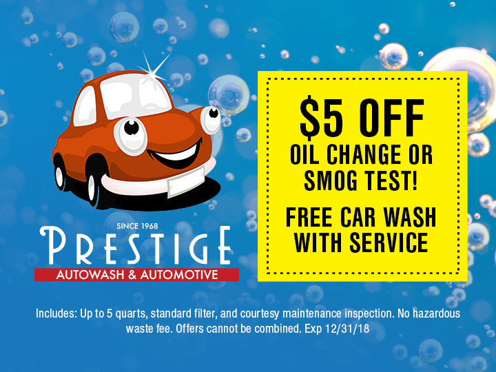 Oil Change and Smog Check Coupon